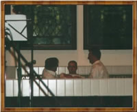 Steve getting Baptised on 6 May 2001 by Rev Dr Alasdair Black