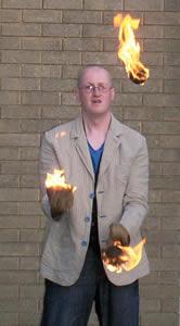 Juggling with Fireballs at Highfield Church (July 2009)
