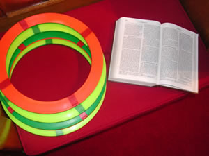 A simple ring juggling routine and the Bible Verse to go with it!