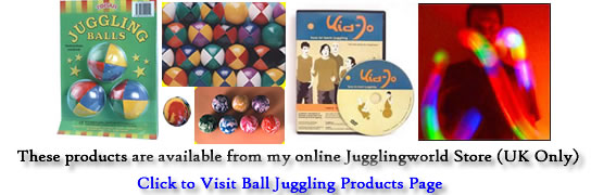 Juggling Ball Products from Jugglingworld - click to visit ball product page
