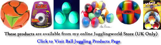 Ball Products from Jugglingworld store - click to visit