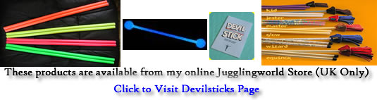 Devilstick Handsticks are ideal for using to Spin toothbrushes - view them in my store (UK only)!