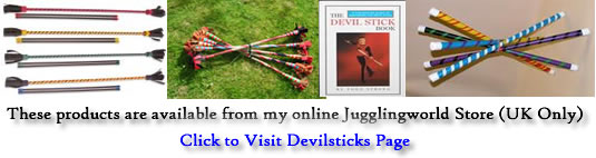 Devilstick/Flowerstick/Lunastix all available from Jugglingworld - UK only