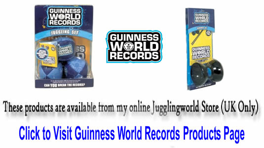 Guinness World Record Products available at Jugglingworld (you can buy scarfs also!)
