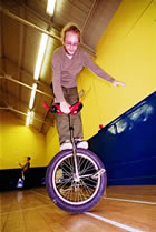 the excellent and multi-talented Ewan Colsell the Unicyclist!