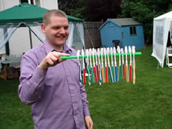 Craig attempts to spin loads of toothbrushes at the same time!